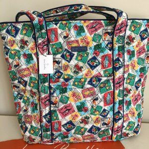 "NWT Vera Bradely Cuban Stamps "" Vera "" Large tote"